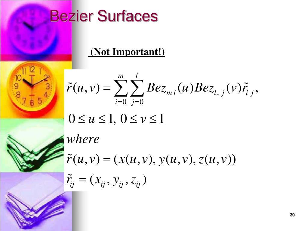 Bezier Surfaces