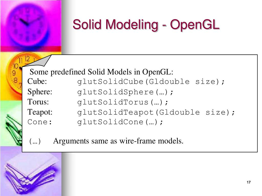 Solid Modeling - OpenGL