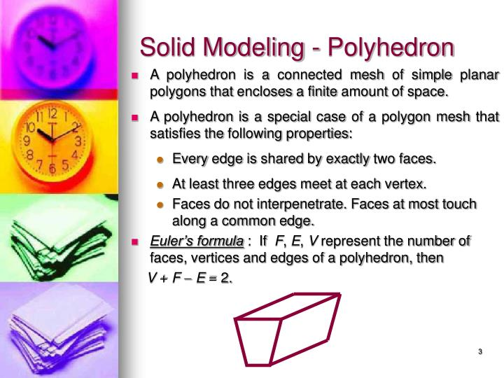 Solid modeling polyhedron