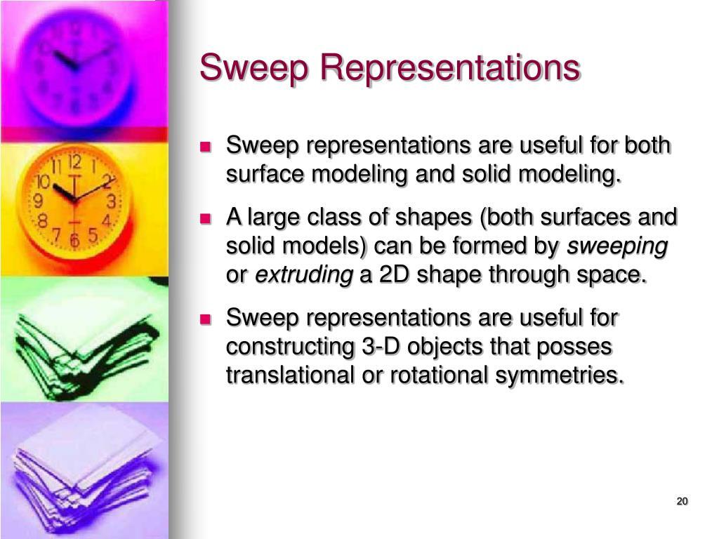 Sweep Representations