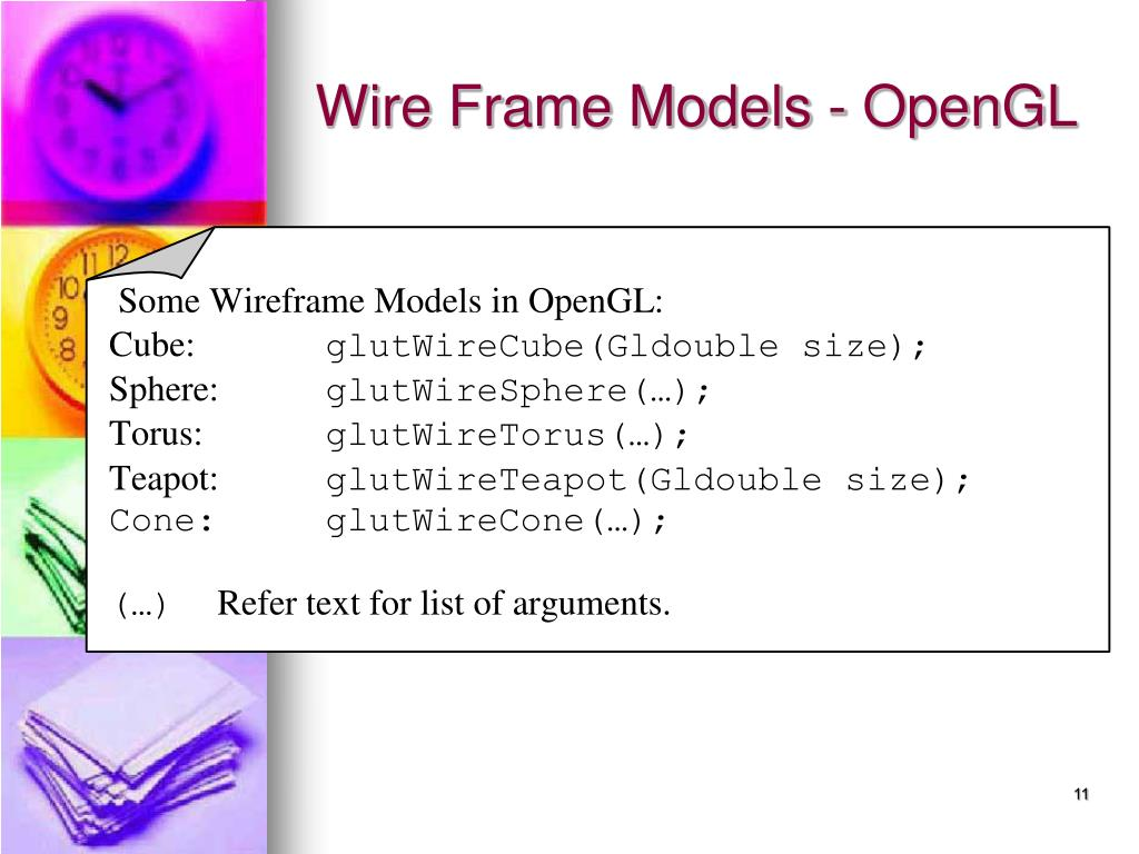 Wire Frame Models - OpenGL