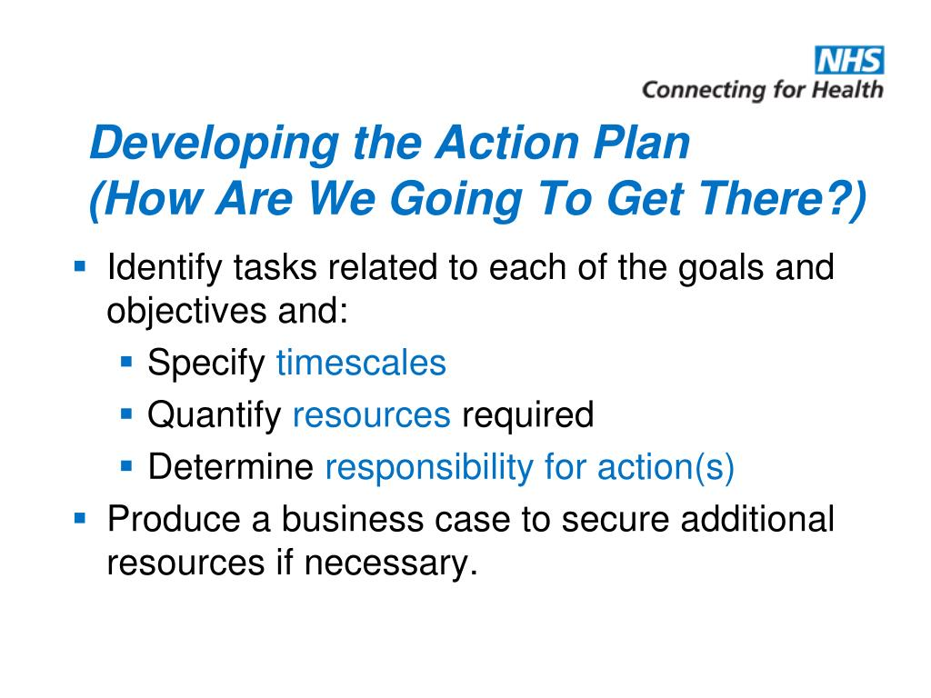 Developing the Action Plan