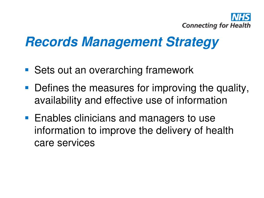 Records Management Strategy