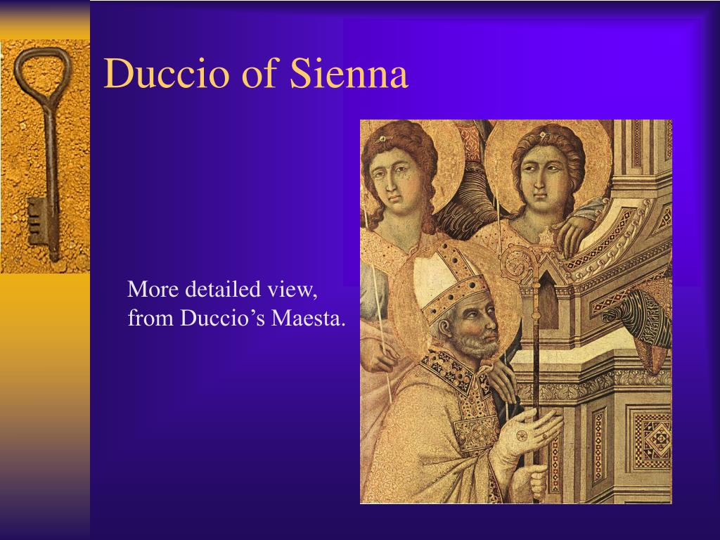 More detailed view, from Duccio's Maesta.