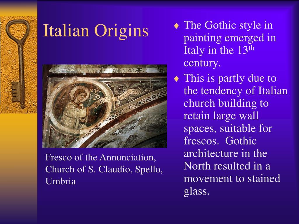 Fresco of the Annunciation,  Church of S. Claudio, Spello, Umbria