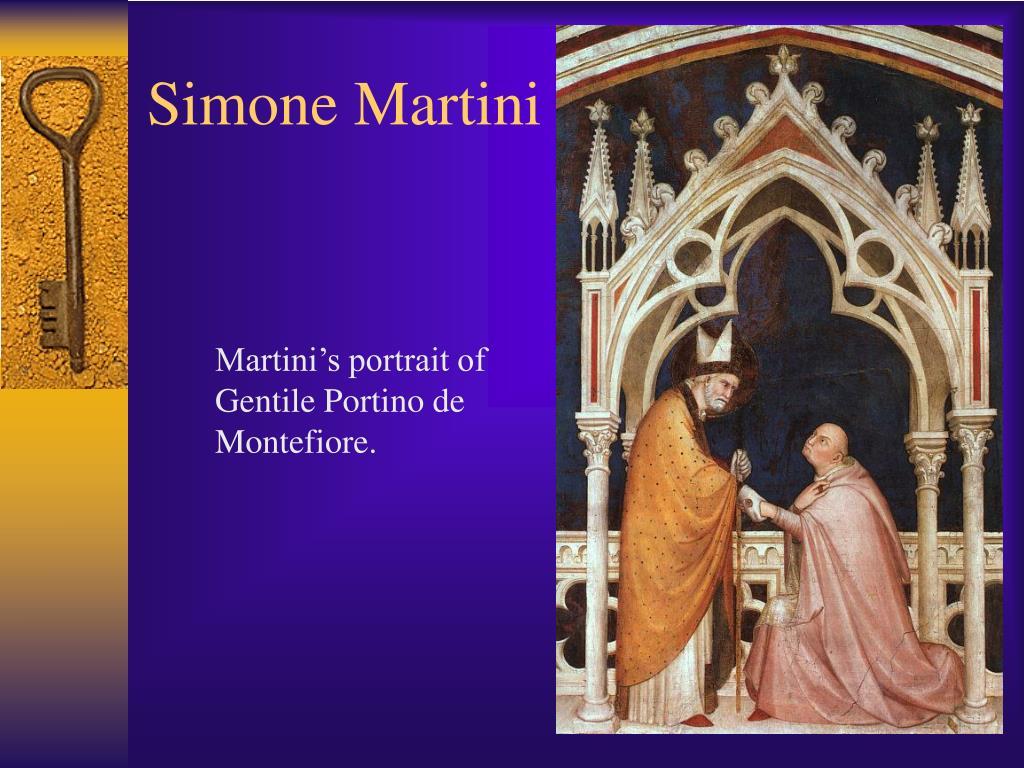 Martini's portrait of Gentile Portino de Montefiore.