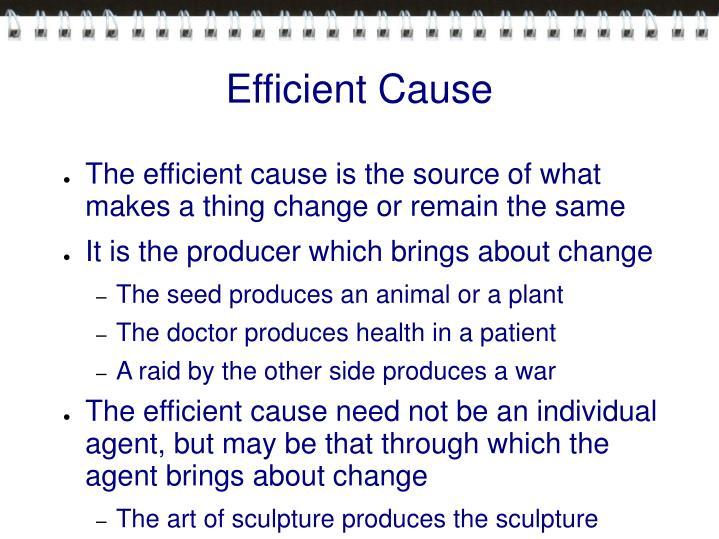 Efficient Cause