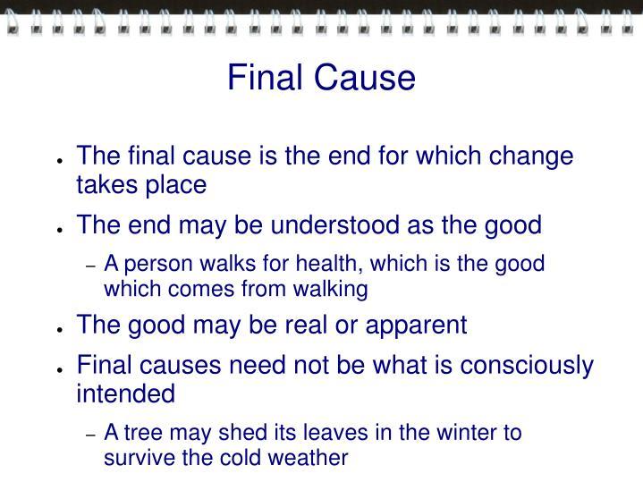 Final Cause