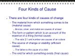 four kinds of cause