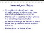 knowledge of nature