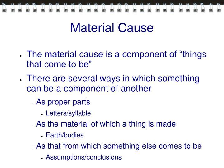 Material Cause