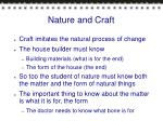 nature and craft