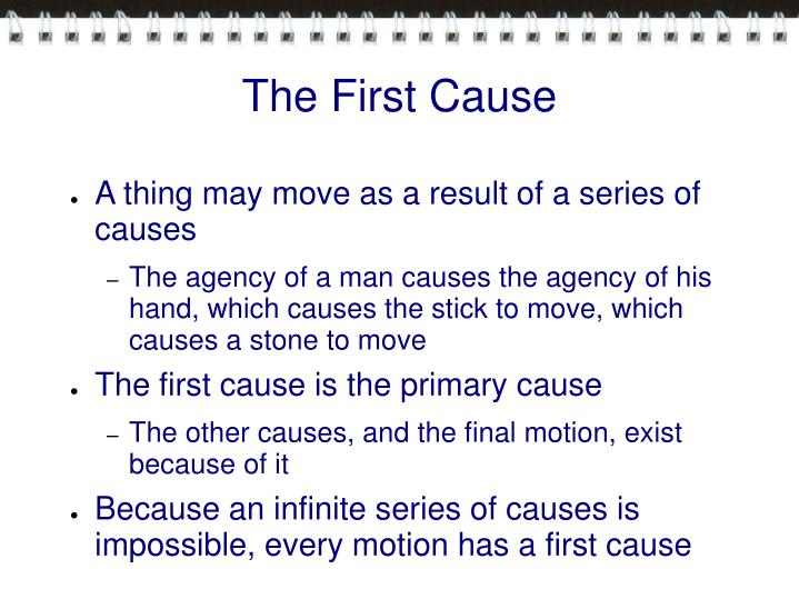 The First Cause
