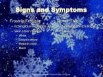 signs and symptoms27