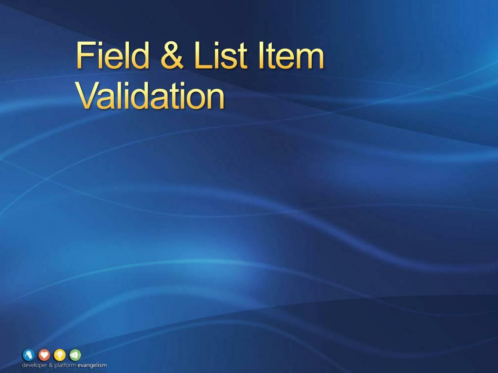 Field & List Item