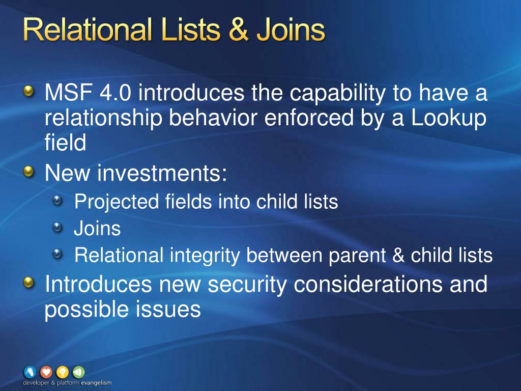 Relational Lists & Joins