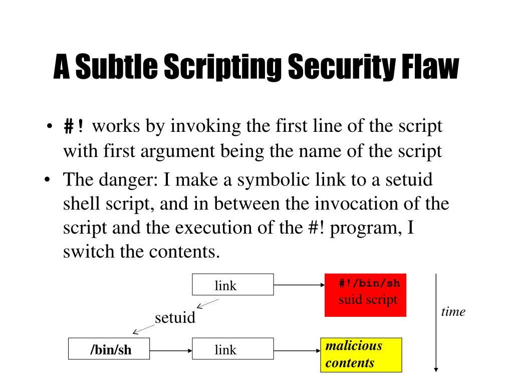 A Subtle Scripting Security Flaw