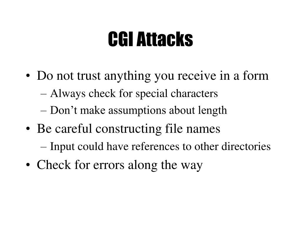 CGI Attacks