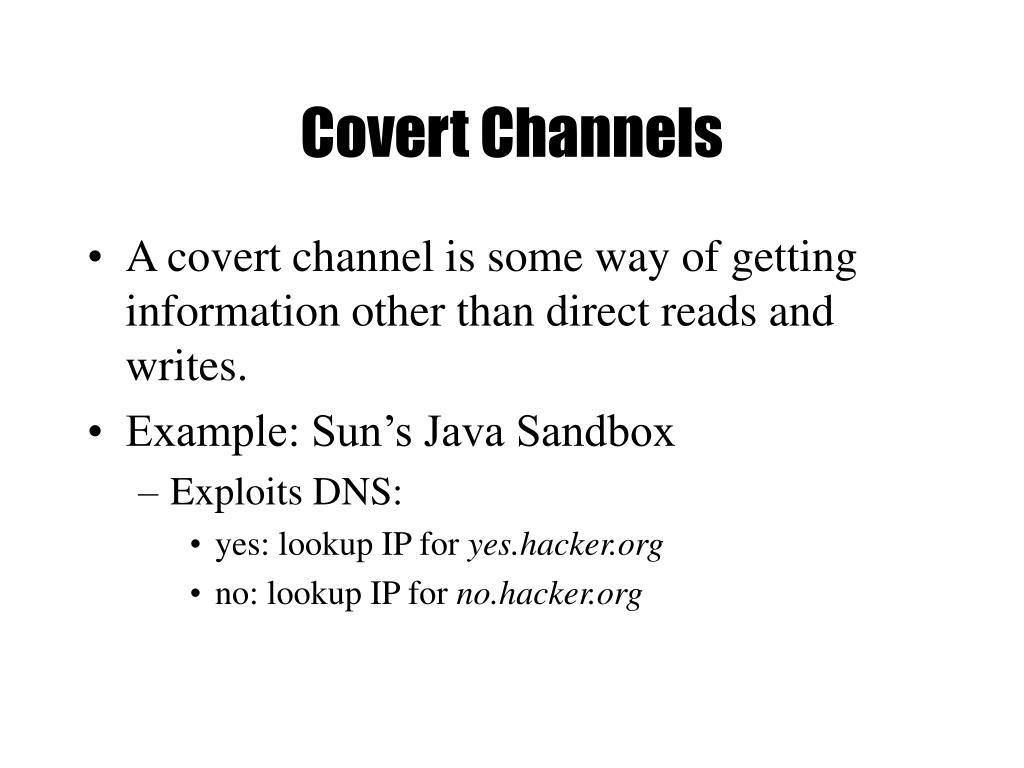 Covert Channels