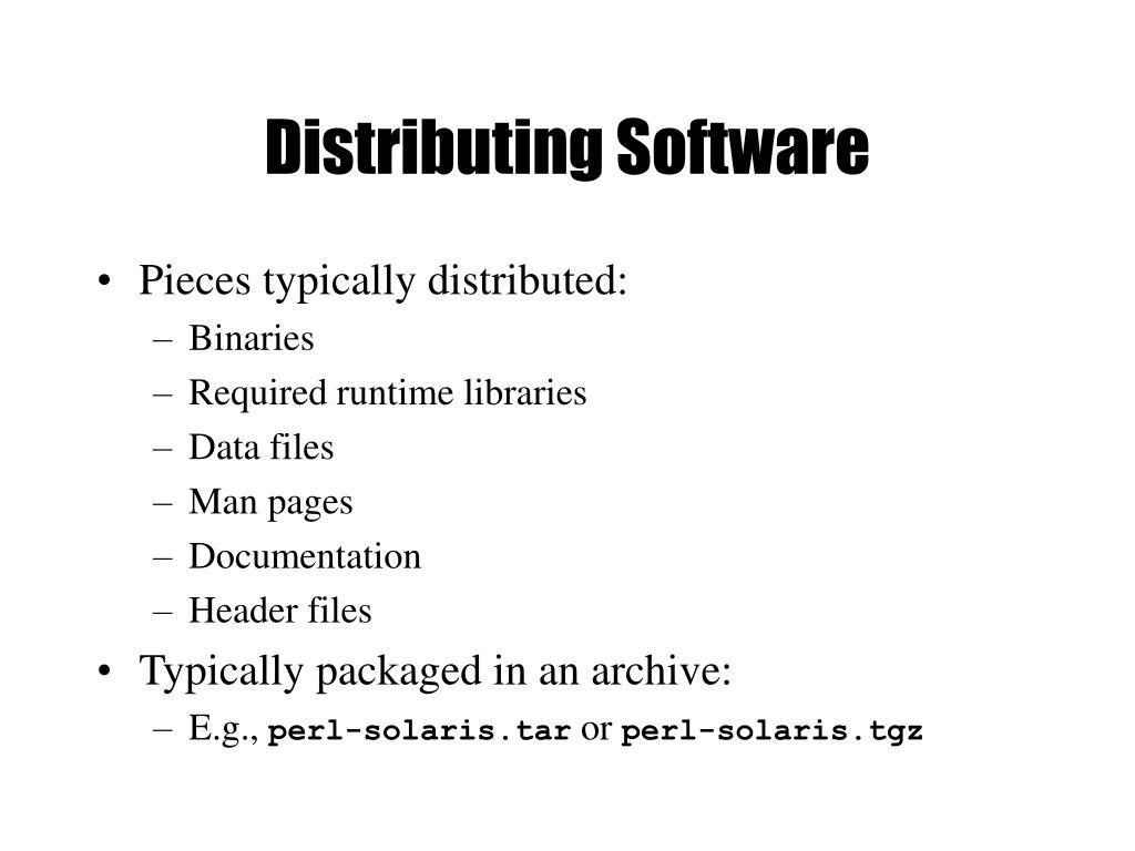 Distributing Software