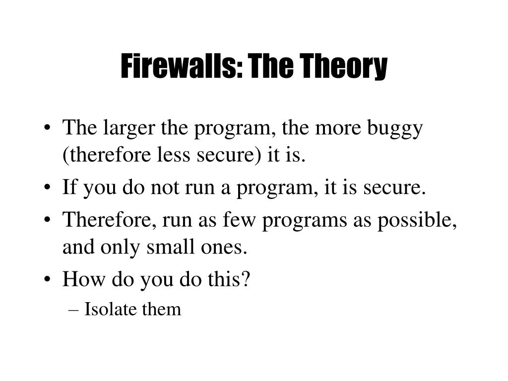 Firewalls: The Theory