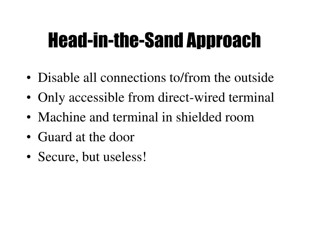 Head-in-the-Sand Approach