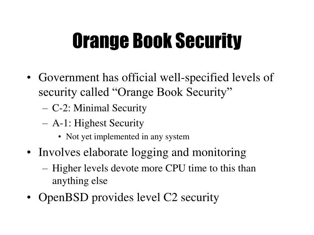 Orange Book Security