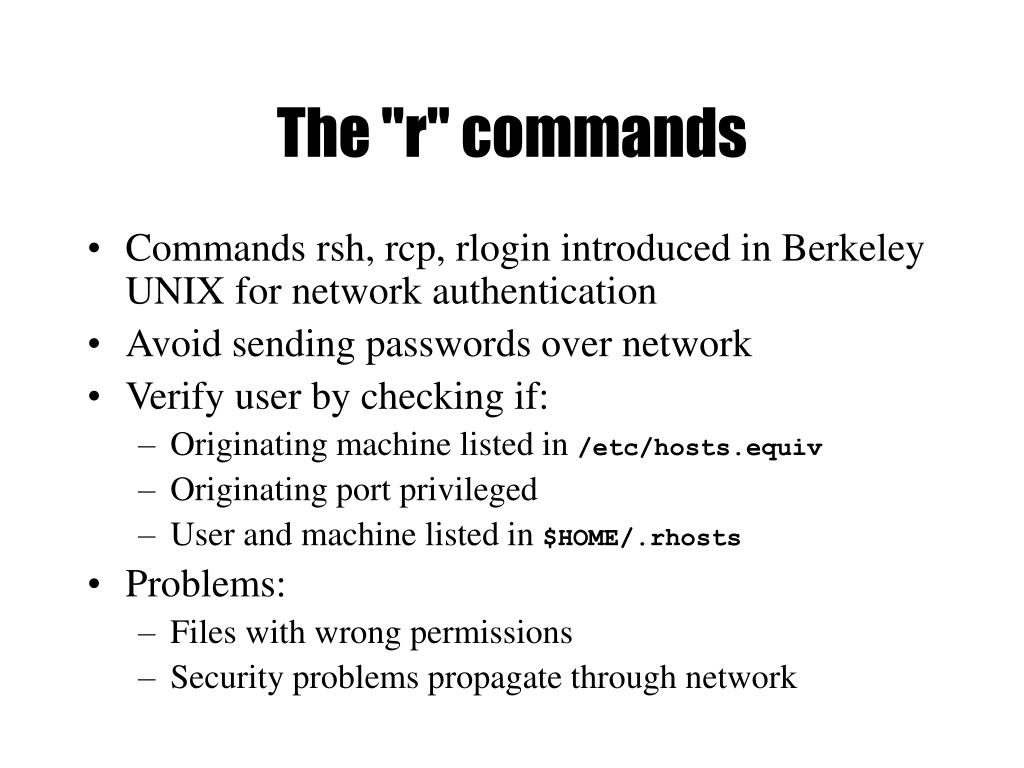 """The """"r"""" commands"""