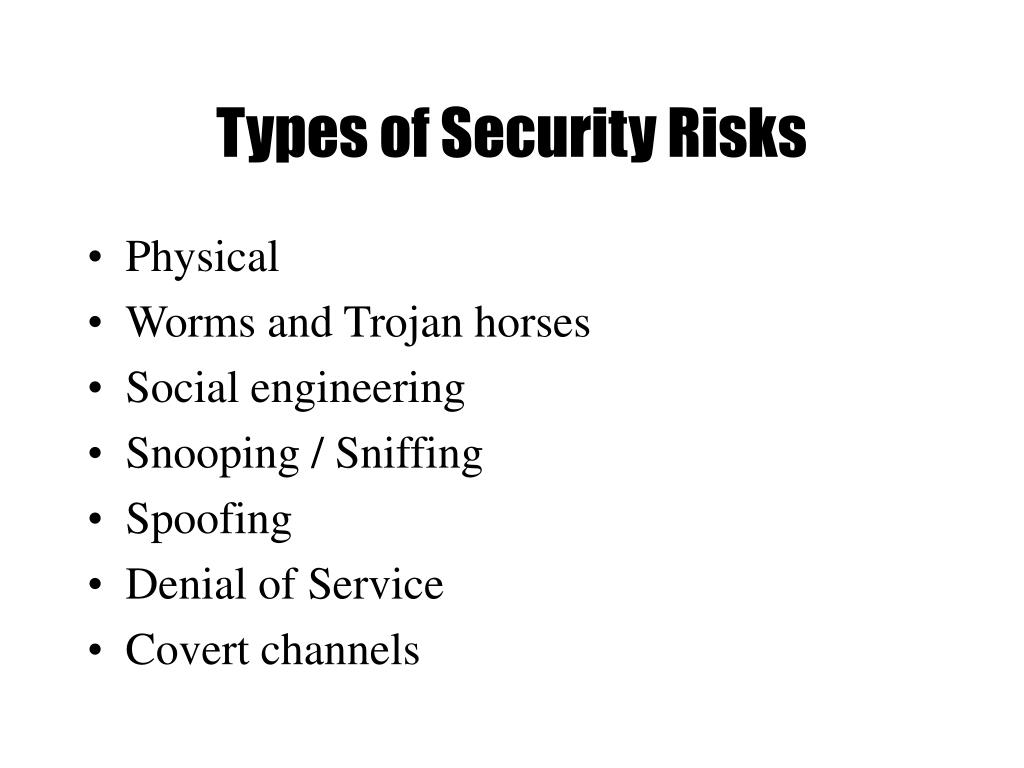 Types of Security Risks