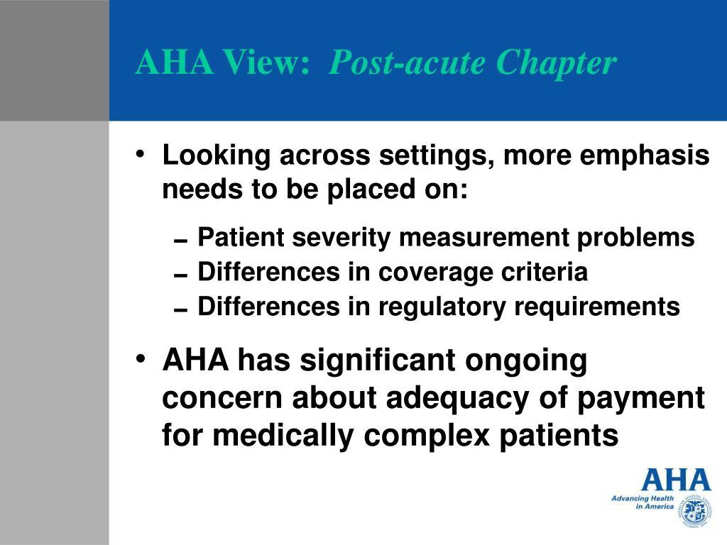 AHA View: