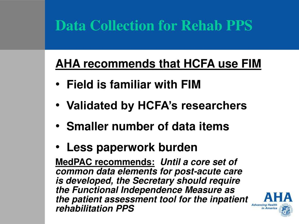 Data Collection for Rehab PPS