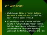 2 nd workshop