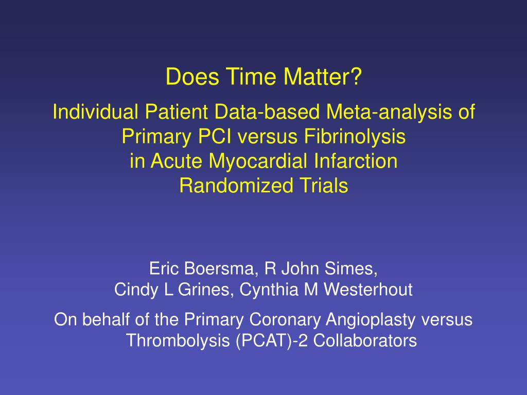 Does Time Matter?