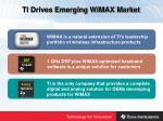 ti drives emerging wimax market