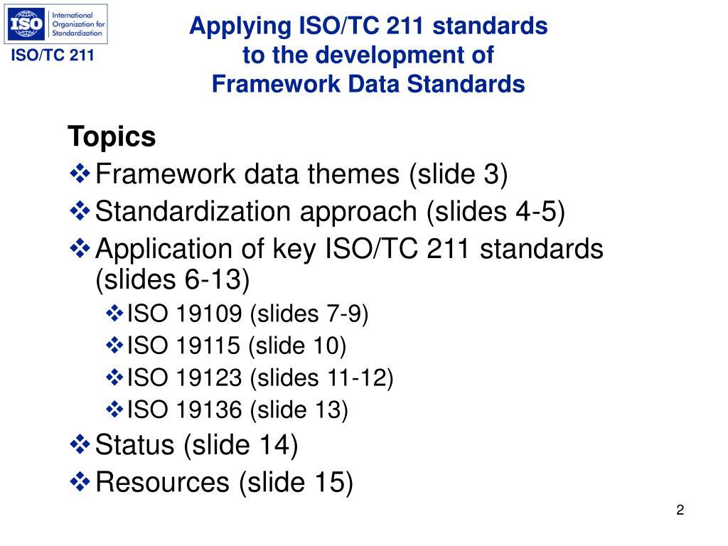Applying ISO/TC 211 standards