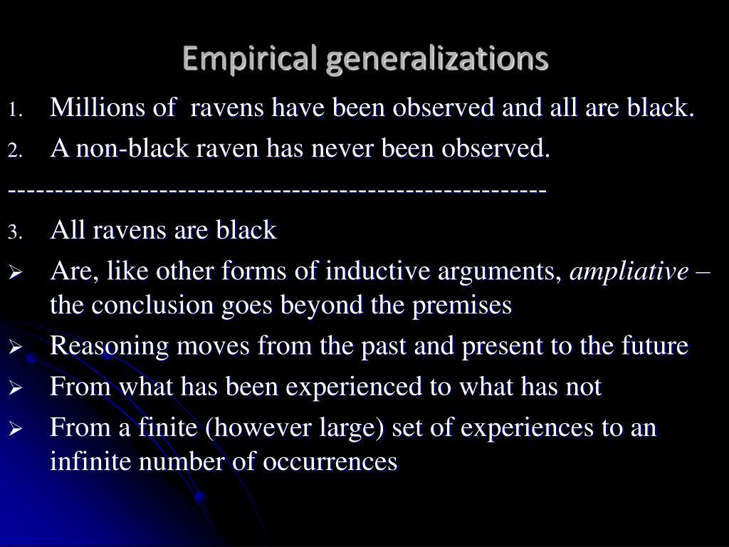 Empirical generalizations