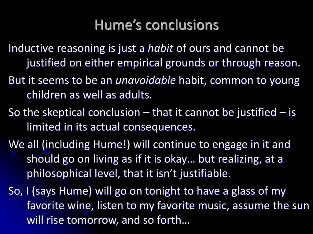 Hume's conclusions