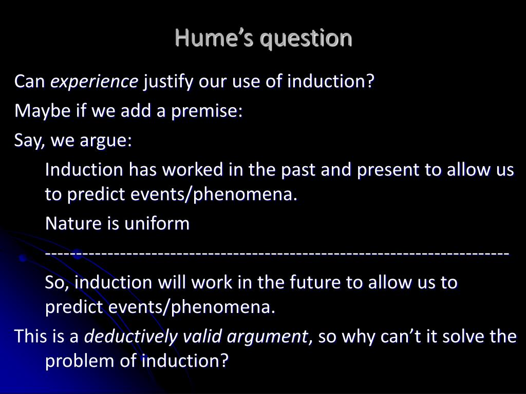 Hume's question