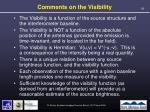 comments on the visibility