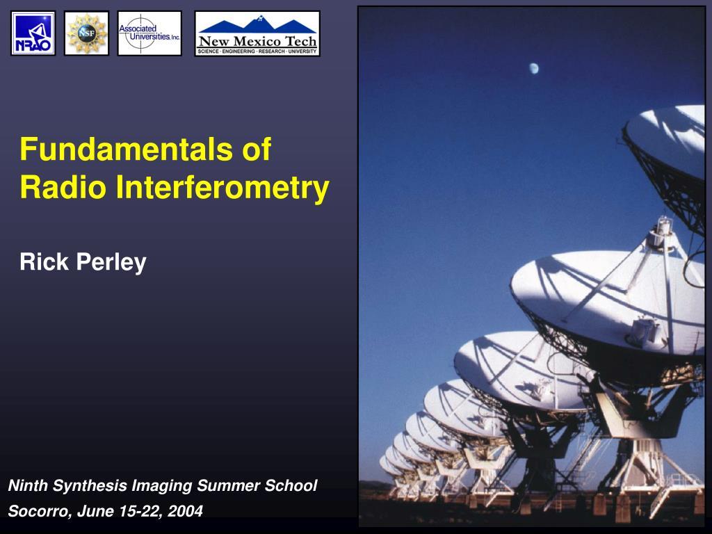 fundamentals of radio interferometry l.