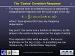 the cosine correlator response