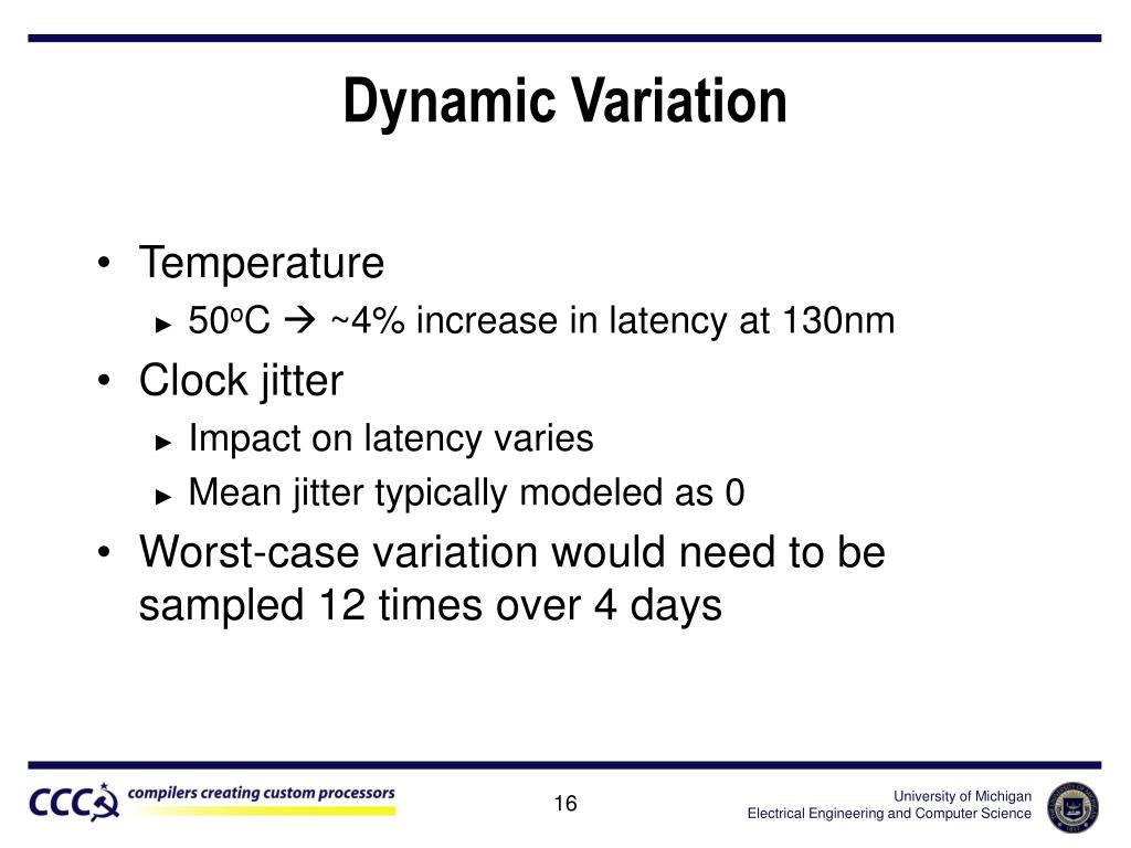 Dynamic Variation
