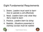 eight fundamental requirements