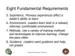 eight fundamental requirements1