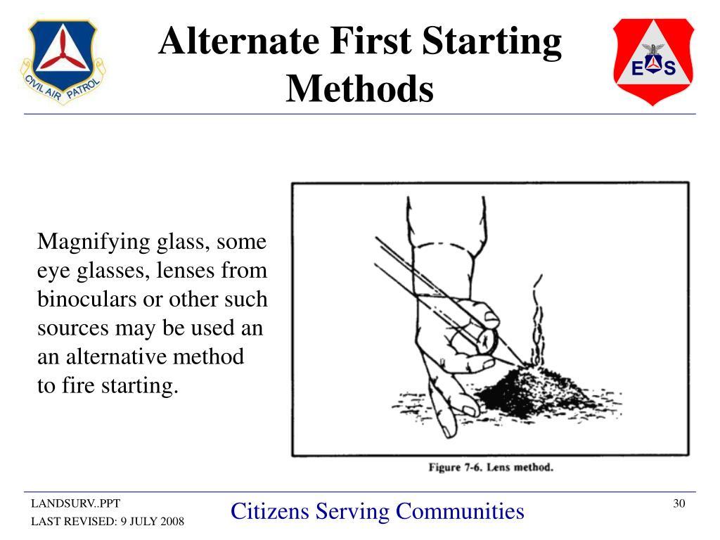 Alternate First Starting Methods