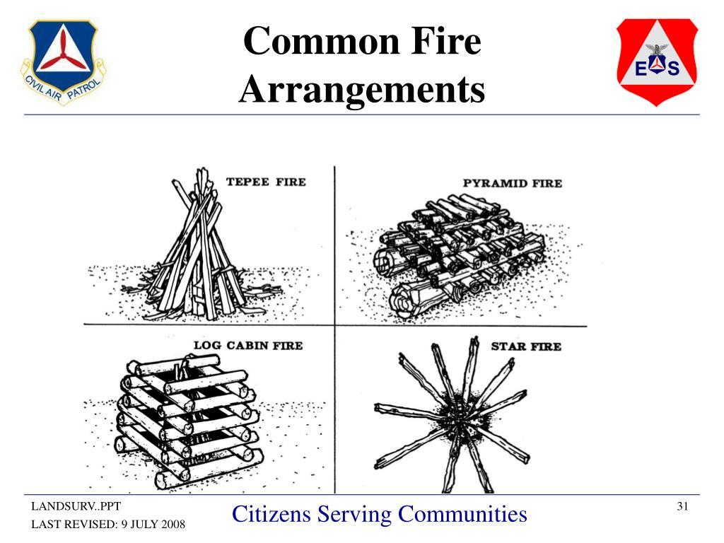 Common Fire Arrangements