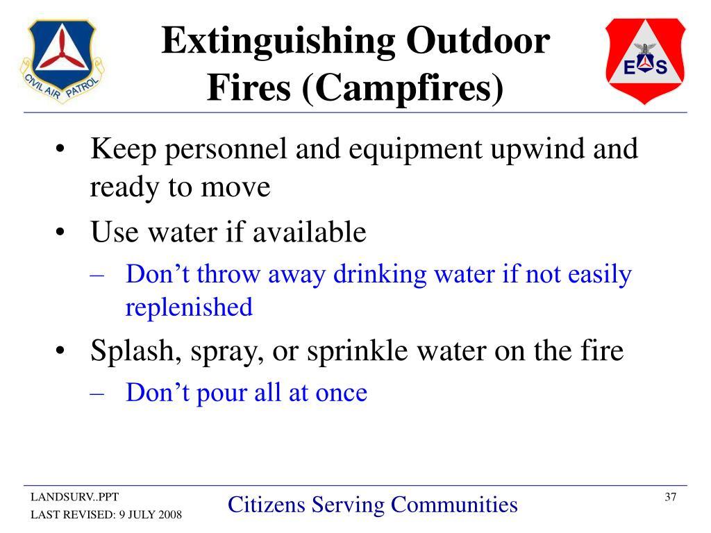 Extinguishing Outdoor Fires (Campfires)