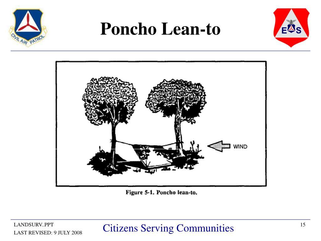 Poncho Lean-to