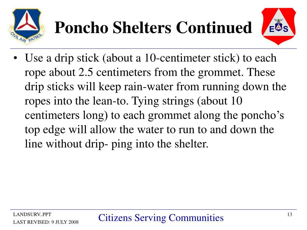 Poncho Shelters Continued