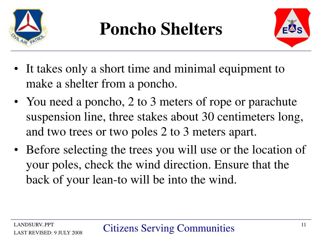 Poncho Shelters